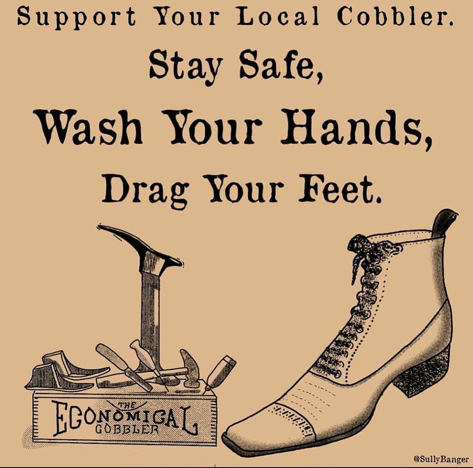 Drag your feet.