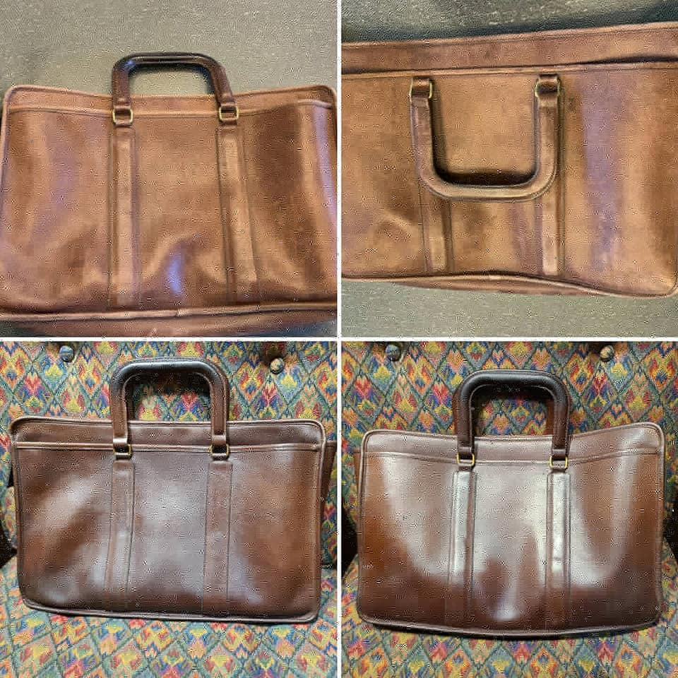 Coach briefcase Before and After 2020
