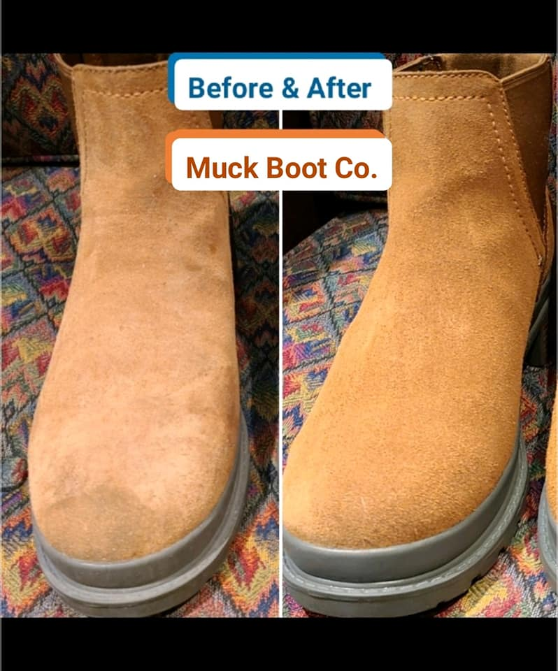 Suede Boots Before and After - 2021